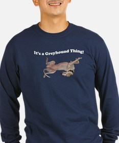 Greyhound Thing Long Sleeve Blue T-Shirt