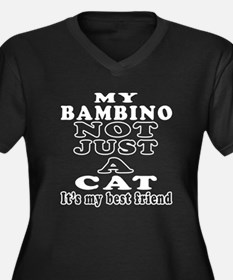 Bambino Cat Designs Women's Plus Size V-Neck Dark