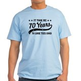 70th birthday Mens Light T-shirts