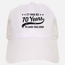Funny 70th Birthday Baseball Baseball Cap