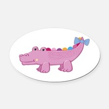 Cute Party Cupcakes Oval Car Magnet