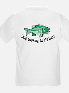 Stop Looking At My Bass Kids T-Shirt