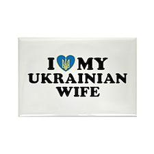 I Love My Ukrainian Wife Rectangle Magnet