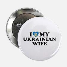 I Love My Ukrainian Wife Button