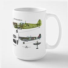 Supermarine Spitfire Cutaway Large Mug