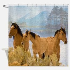 Buckskin Horses Shower Curtain