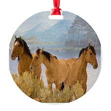 Buckskin Horses Ornament