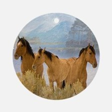 Buckskin Horses Ornament (Round)