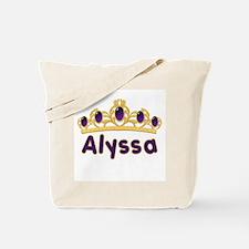 Princess Tiara Alyssa Personalized Tote Bag