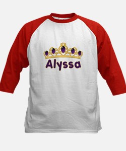 Princess Tiara Alyssa Personalized Kids Baseball J