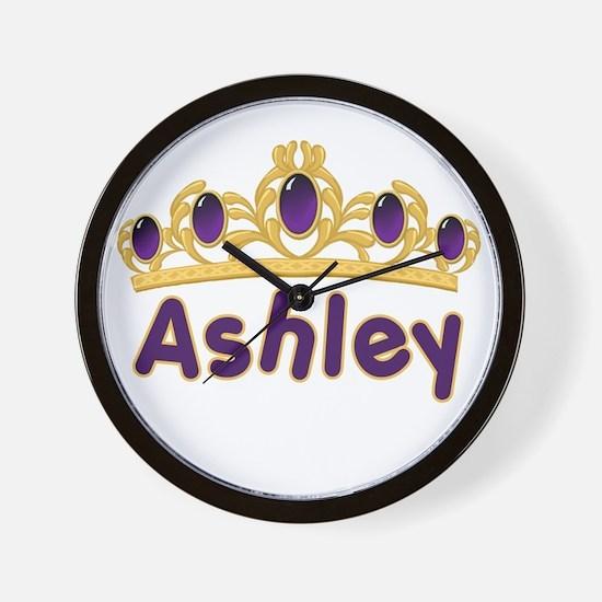Princess Tiara Ashley Personalized Wall Clock