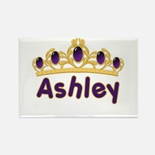 Princess Tiara Ashley Personalized Rectangle Magne