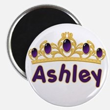 "Princess Tiara Ashley Personalized 2.25"" Magnet (1"
