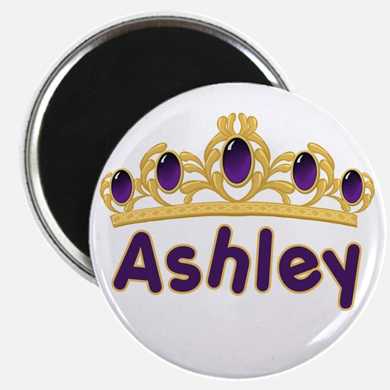 "Princess Tiara Ashley Personalized 2.25"" Magnet (1"