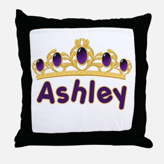 Princess Tiara Ashley Personalized Throw Pillow