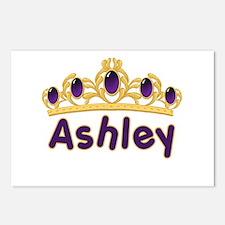 Princess Tiara Ashley Personalized Postcards (Pack