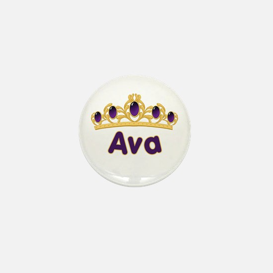 Princess Tiara Ava Personalized Mini Button
