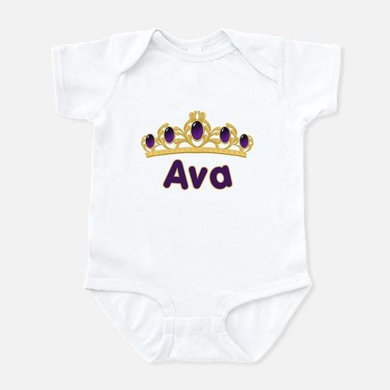 Princess Tiara Ava Personalized Infant Bodysuit