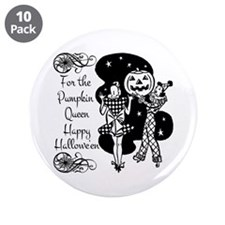 "Pumpkin Queen 3.5"" Button (10 pack)"