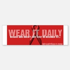Wear It Daily Bumper Bumper Bumper Sticker