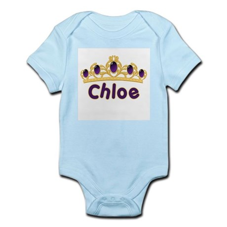 Princess Tiara Chloe Personalized Infant Bodysuit