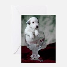 Pup in a Cup Greeting Card
