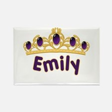 Princess Tiara Emily Personalized Rectangle Magnet
