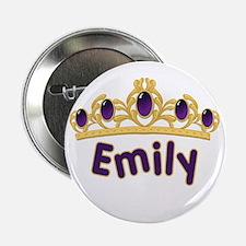 "Princess Tiara Emily Personalized 2.25"" Button (10"