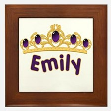 Princess Tiara Emily Personalized Framed Tile