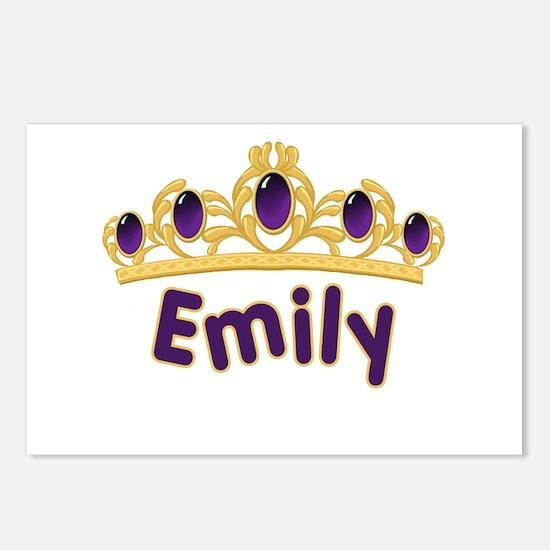 Princess Tiara Emily Personalized Postcards (Packa