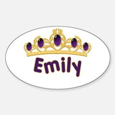 Princess Tiara Emily Personalized Oval Decal