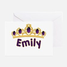 Princess Tiara Emily Personalized Greeting Cards (