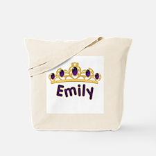 Princess Tiara Emily Personalized Tote Bag