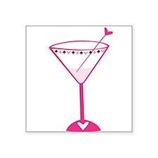 Pink Poker Martini Sticker
