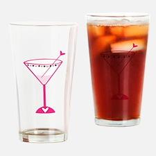 Pink Poker Martini Drinking Glass