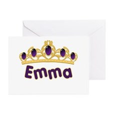 Princess Tiara Emma Personalized Greeting Cards (P