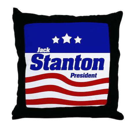 Jack Stanton Throw Pillow
