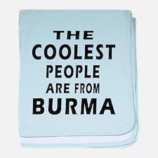 The Coolest Burma Designs baby blanket
