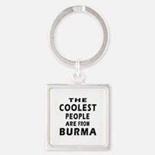 The Coolest Burma Designs Square Keychain