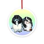Steffie & Punkin Ornament (Round)