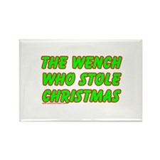 The Wench Who Stole Christmas Rectangle Magnet (10