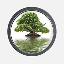ficus water reflection Wall Clock