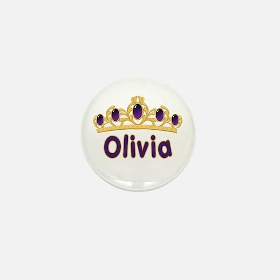 Princess Tiara Olivia Personalized Mini Button