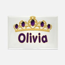 Princess Tiara Olivia Personalized Rectangle Magne