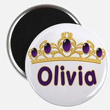 "Princess Tiara Olivia Personalized 2.25"" Magnet (1"