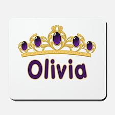 Princess Tiara Olivia Personalized Mousepad