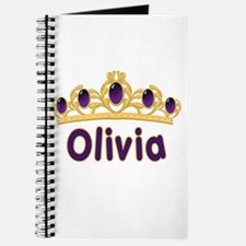 Princess Tiara Olivia Personalized Journal