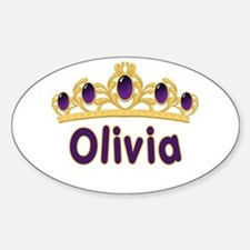 Princess Tiara Olivia Personalized Oval Decal
