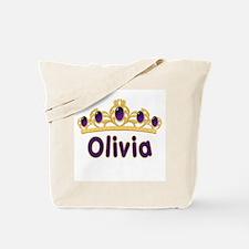 Princess Tiara Olivia Personalized Tote Bag