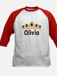 Princess Tiara Olivia Personalized Kids Baseball J